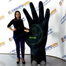 надувная рекламная конструкция черная перчатка