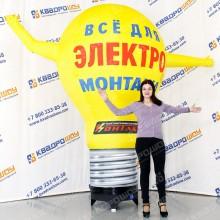 надувная рекламная конструкция электро лампочка