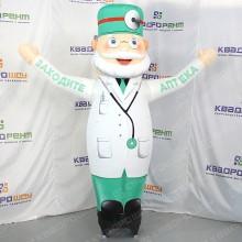 Надувной аптекарь с машущей рукой для рекламы