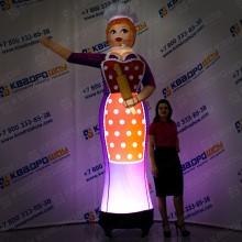 надувная ростовая кукла повариха зазывала с подсветкой