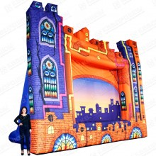 надувная театральная декорация замок