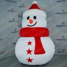 Декорация Снеговик в красном колпаке