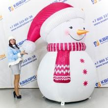 Новогодняя декорация Снеговик