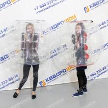 Надувные прозрачные шары для бампербола