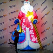 Надувная фигура Дед Мороз премиум с подсветкой