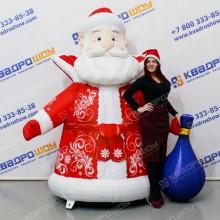 Надувная новогодняя декорация Дед Мороз