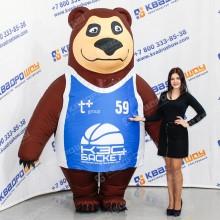 Надувной костюм Медведь в съемной майке