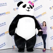 надувной костюм плюшевый медведь панда
