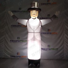 Надувная фигура джентльмен с подсветкой машет рукой