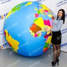 Большой надувной мяч политическая карта мира