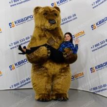 Надувной рекламный костюм Медведь