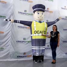 надувной полицейский аэромен зазывала реклама осаго