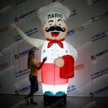 Надувная фигура Повар Марио с подсветкой
