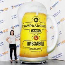 надувной рекламный пивной бокал