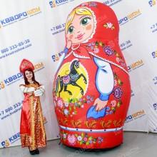 Матрешка городецкая роспись на праздник масленица