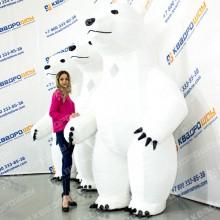 Надувная ростовая кукла белый Медведь