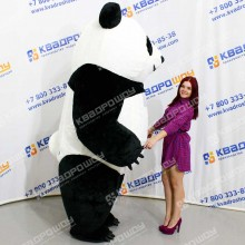 Надувной костюм Панда короткий мех