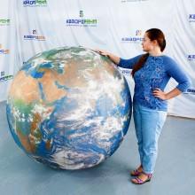 Надувная декорация шар планета Земля