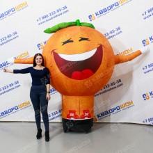 Надувная фигура Апельсин с машущей рукой