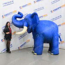 Огромная ходячая реклама Слон