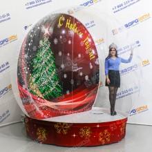 Надувной новогодний Чудо-Шар с надписью