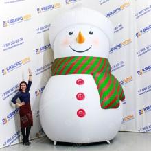 Большой надувной Снеговик в шапке и шарфе