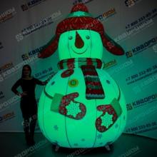 Надувная конструкция на новый год Снеговик с подсветкой RGB