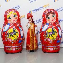 Надувные фигуры на ярмарку матрешки с городецкой росписью