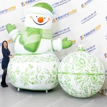 Надувные фигуры на праздник Снеговик и Шар