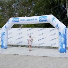 Надувные соревновательные ворота с фирменным брендированием
