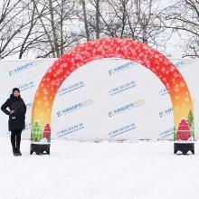 Надувные ворота новогодние