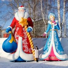 Новогодние декорации надувные