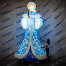 Новогодняя надувная фигура Снегурочка