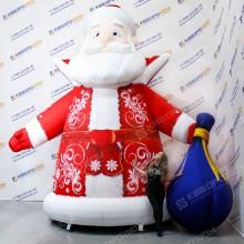 Надувная фигура Дед Мороз с мешком
