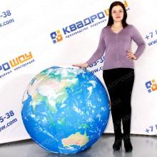 огромный надувной мяч земной шар