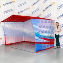 Каркасная брендированная палатка