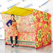 палатка ярмарочная в стиле хохлома с фартуком на масленицу