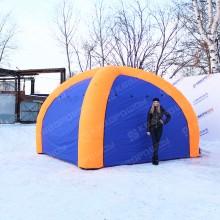 палатка надувная в закрытом виде