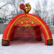 Палатка на Масленицу Хохлома