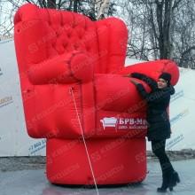 пневмофигура надувное кресло для рекламы мебельного магазина