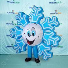 Новогодний надувной костюм Снежинка