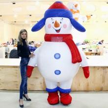 Новогодний пневмокостюм снеговик 2,5м