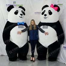 Пневмокостюм мишка Панда девочка и мальчик