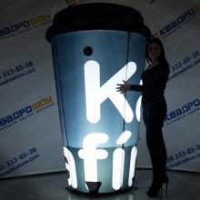 рекламное джумби огромный стакан кофе