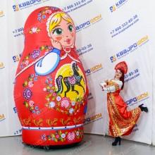 Надувная Матрёшка городецкая роспись для оформления масленицы