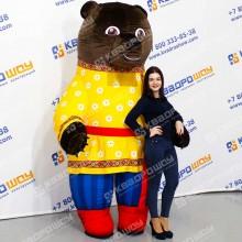 надувной костюм коричневый мишка