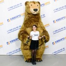ростовой костюм надувной медведь