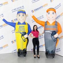 Ростовые рекламные куклы зазывающие рукой