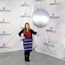 большой надувной серебряный шар