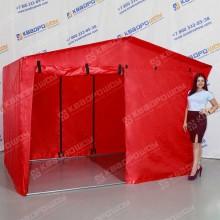 Каркасная палатка с передней 2х дверной стенкой